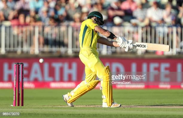 Australia's D'Arcy Short during the Vitality IT20 Series match between England and Australia at Edgbaston on June 27 2018 in Birmingham England