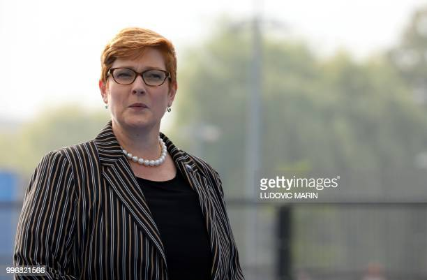 Australia's Defence Minister Marise Payne arrives to attend the North Atlantic Treaty Organization summit in Brussels on July 12, 2018.