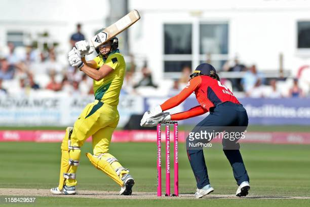 Australia's Ellyse Perry batting during the Ashes match between England and Australia at 1st Central County Ground, Hove on Sunday 28th July 2019.