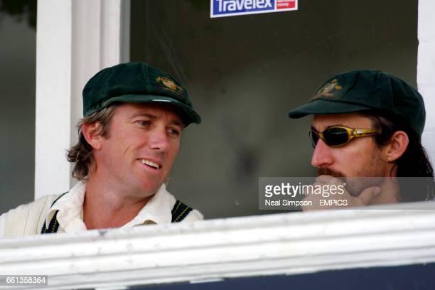 Australia's Glenn McGrath and Jason Gillespie