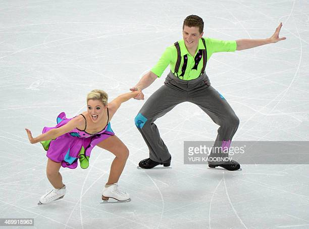 Australia's Gregory Merriman and Australia's Danielle Obrien compete in the Figure Skating Ice Dance Free Dance at the Iceberg Skating Palace during...