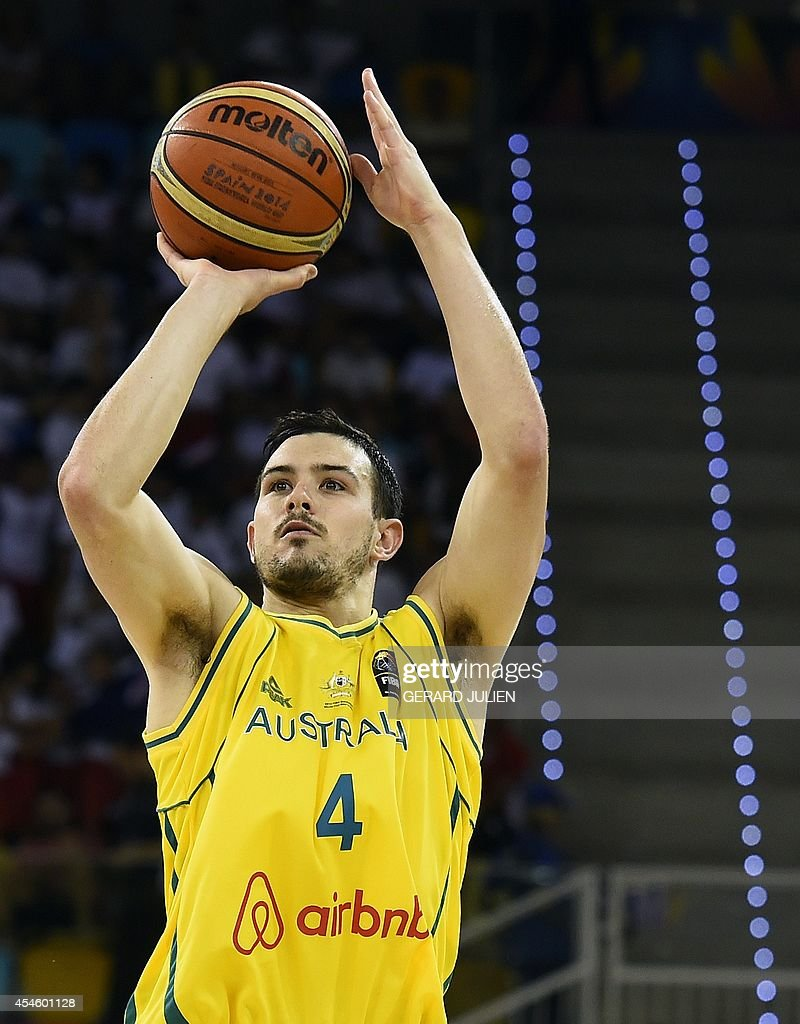 BASKET-WC-2014-AUS-ANG : News Photo