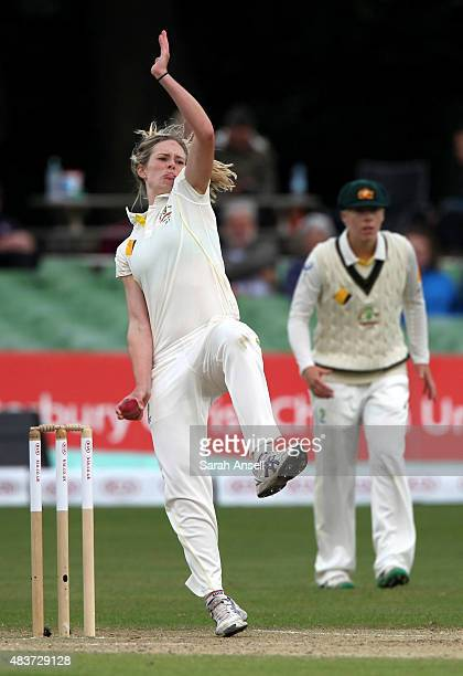 Australia's Holly Ferling bowls during day two of the Kia Women's Test of the Women's Ashes Series between England and Australia Women at The...