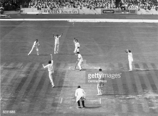 Australia's Ian Chappell is caught by Alan Knott off Brown for 10 during the 5th Test at the Oval