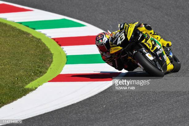Australia's Jack Miller rides his Ducati Pramac during a free practice session for the Italian Moto GP Grand Prix at the Mugello race track on May 31...