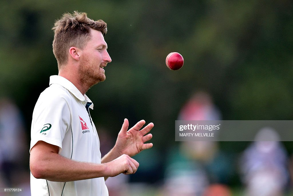 Australia's Jackson Bird prepares to bowl during day four of the second cricket Test match between New Zealand and Australia at the Hagley Park in Christchurch on February 23, 2016. AFP PHOTO / MARTY MELVILLE / AFP / Marty Melville