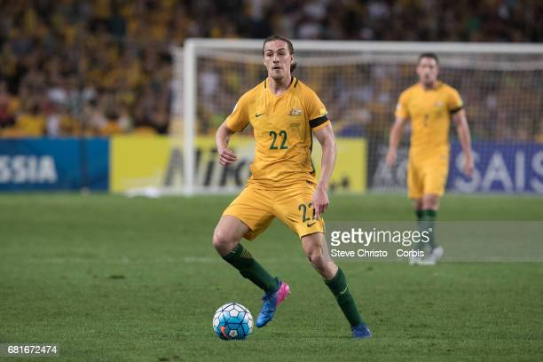 Australia's Jackson Irvine in action during the FIFA World Cup 2018 final qualification round between Australia and United Arab Emirates at Allianz...