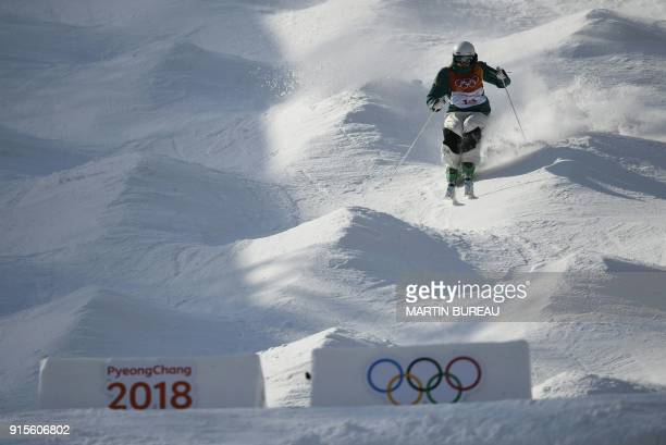 Australia's Jakara Anthony attends a women's moguls training session on February 8 2018 at the Phoenix Park on the eve of the opening ceremony of the...