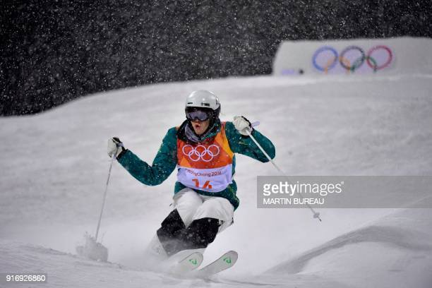 Australia's Jakara Anthony competes in the women's moguls final 2 during the Pyeongchang 2018 Winter Olympic Games at the Phoenix Park in Pyeongchang...