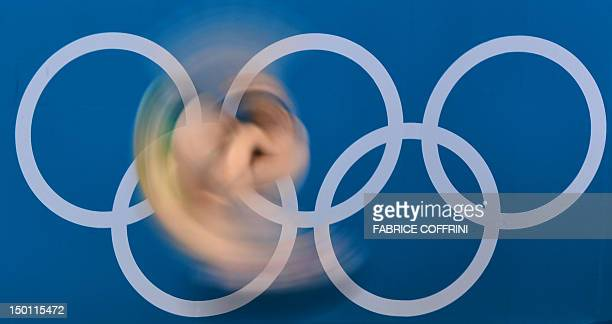 Australia's James Connor competes in the men's 10m platform preliminary round during the diving event at the London 2012 Olympic Games on August 10...