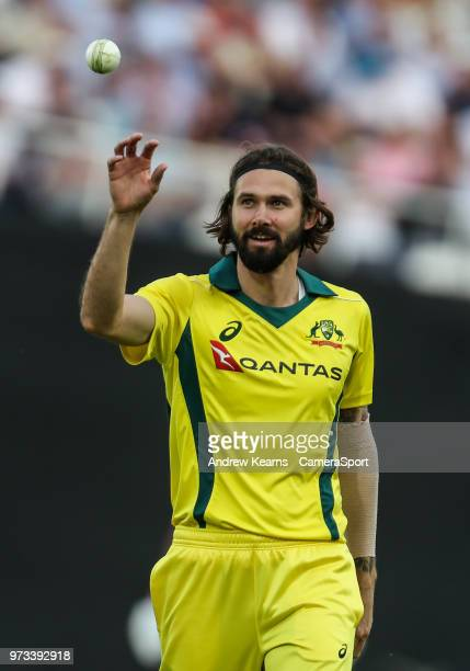 Australia's Kane Richardson during the Royal London 1st ODI match between England and Australia at The Kia Oval on June 13 2018 in London England