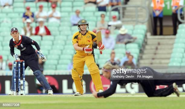 Australia's Karen Rolton during the ICC Women's World Twenty20 Semi Final at The Oval London