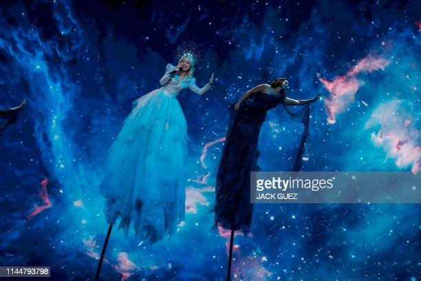 Australia's Kate MillerHeidke performs the song Zero Gravity during the Grand Final of the 64th edition of the Eurovision Song Contest 2019 at Expo...