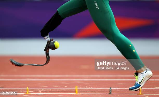 Australia's Kelly Cartwright in the Women's Long Jump T42/44 in the Olympic Stadium London