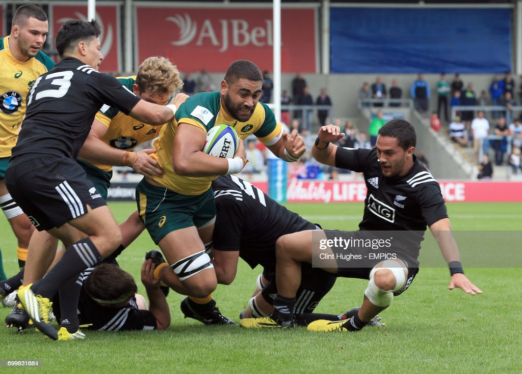 Australia v New Zealand - 2016 Rugby Union Under 20's World Championship - 5th Place Play-Off - AJ Bell Stadium : News Photo