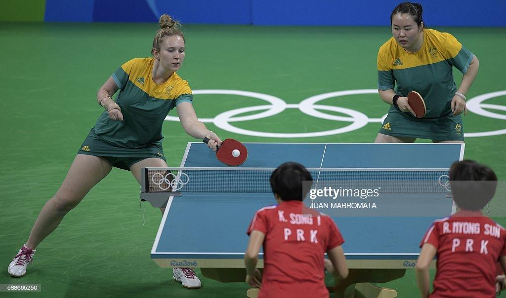 TABLE TENNIS-OLY-2016-RIO-PRK-AUS : News Photo