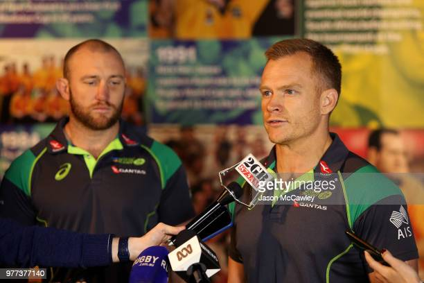 Australia's Mens Sevens coach Tim Walsh speaks to the media during a press conference at Rugby Australia HQ on June 18 2018 in Sydney Australia