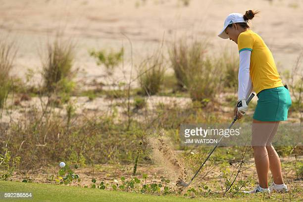Australia's Minjee Lee competes in the final day of the Women's individual stroke play at the Olympic Golf course during the Rio 2016 Olympic Games...