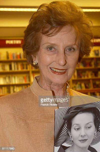 Australia's most photographed model of the 40s and 50s June DallyWatkins launching her new book 'The Secret Behind My Smile' at Dymocks store in...