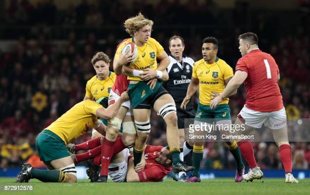 Australia's Ned Hanigan during the 2017 Under Armour Series match between Wales and Australia at Principality Stadium on November 11 2017 in Cardiff...