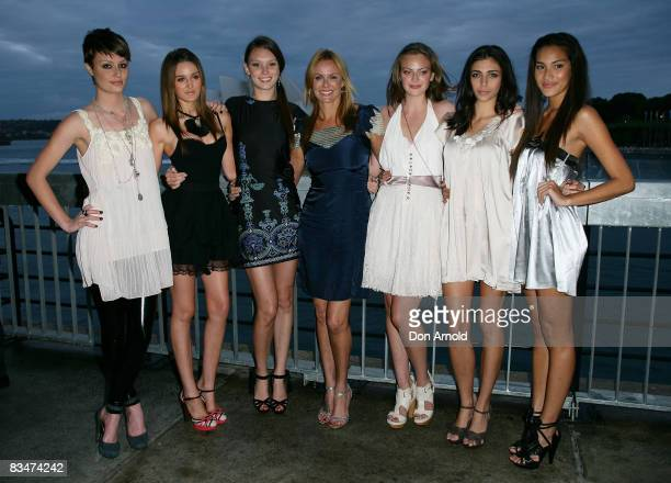 Australia's Next Top Model contestants, standing alongside Charlotte Dawson attend the 2009 MCN Upfront party, celebrating upcoming programming...