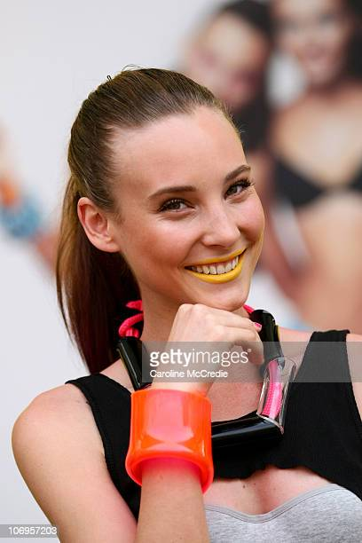 Australia's Next Top Model winner Kelsey Martinovich showcases underwear by Bonds on the catwalk as part of the Bonds Summer Hipsters Campaign at...
