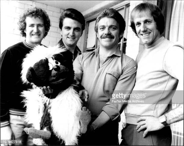 Australias No1 vocal group 'The Four Kinsmen'Left to right Adrian Mahony George Harvey Spencer Whitely George FayPictured with one of their puppets...