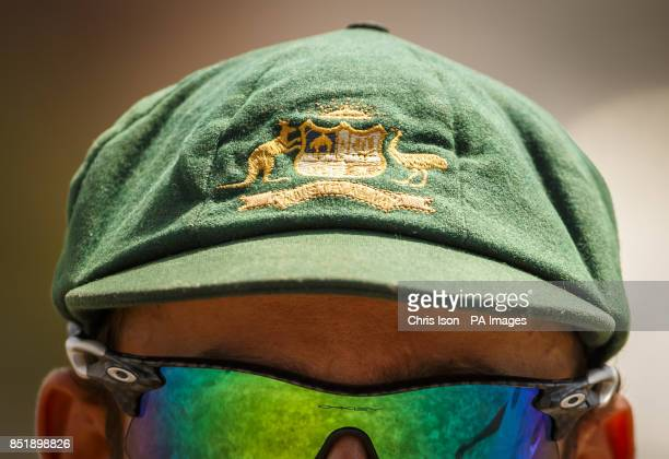 Australia's Phil Hughes wears the 'Baggy Green' cap during day three of the international tour match at the BrightonandHoveJobscom County Cricket...