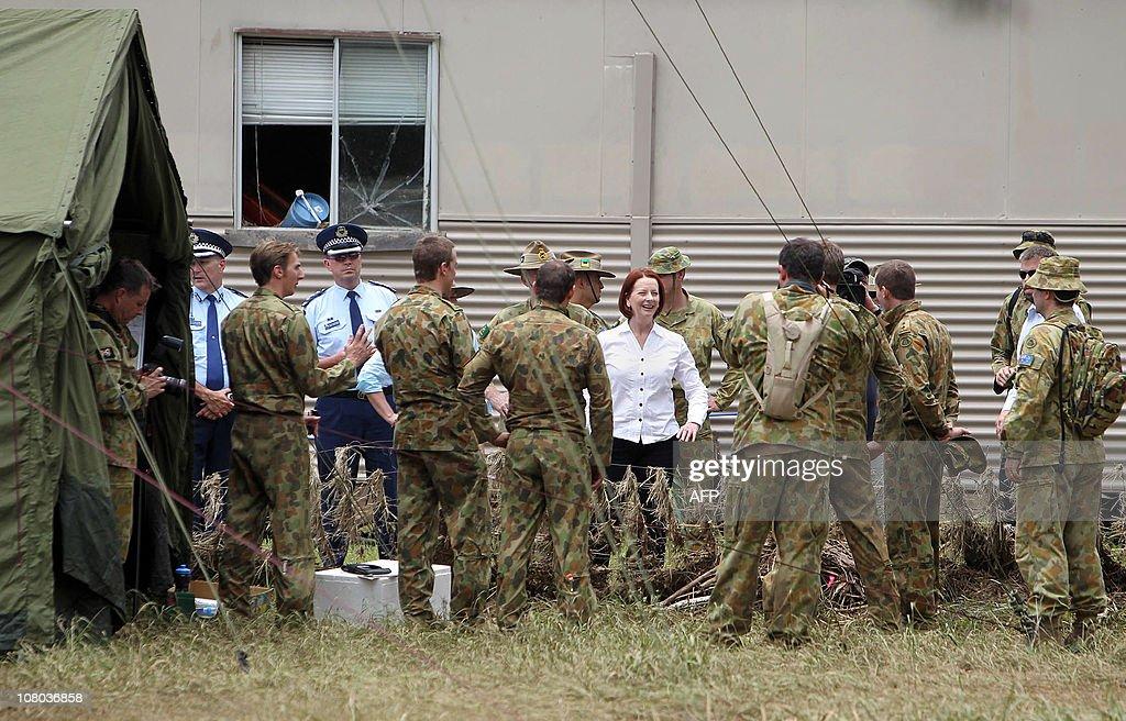 Australia's Prime Minister Julia Gillard : News Photo