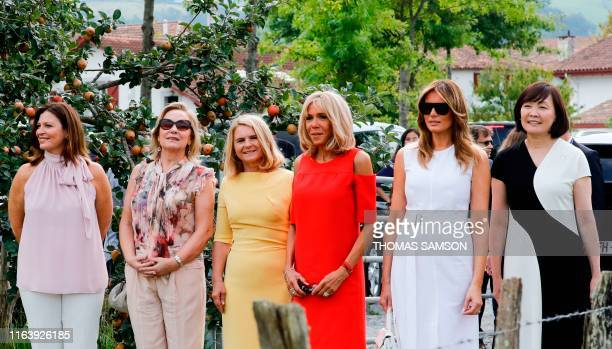 Australia's Prime Minister's wife Jenny Morrison Chile's First Lady Cecilia Morel European Council President's wife Malgorzata Tusk Wife of French...