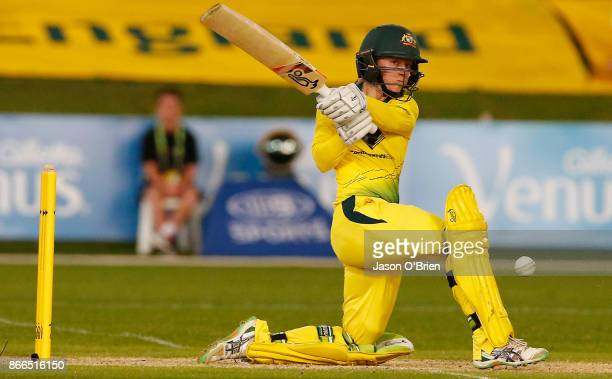 Australia's Rachael Haynes in action during the Women's One Day International match between Australia and England on October 26 2017 in Coffs Harbour...