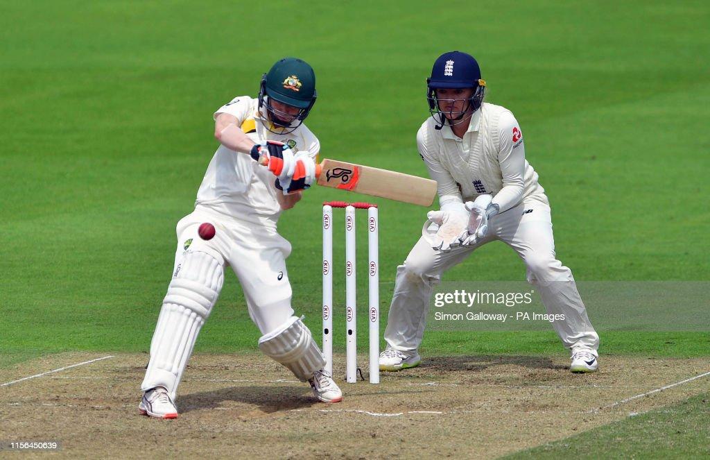 England Women v Australia Women - Women's Ashes Test - Day Two - Cooper Associates County Ground : News Photo