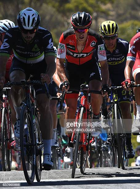 Australia's Richie Porte of BMC Racing takes part in the Cadel Evans Great Ocean Road Race cycling event in Geelong on January 29 2017 / AFP / Mal...