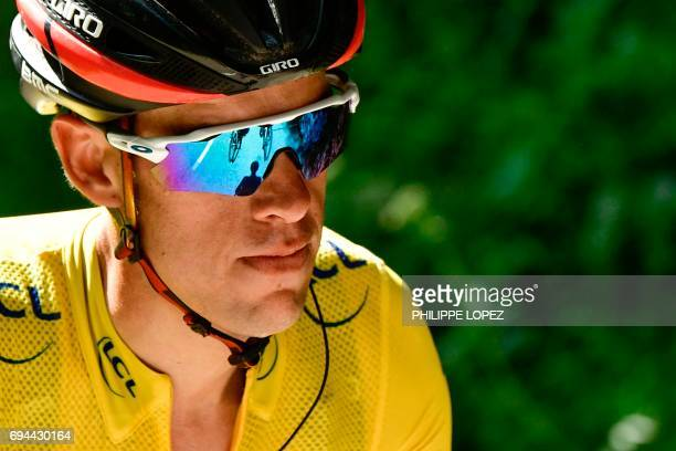 Australia's Richie Porte wearing the overall leader's yellow jersey rides during the 168 km seventh stage of the 69th edition of the Criterium du...
