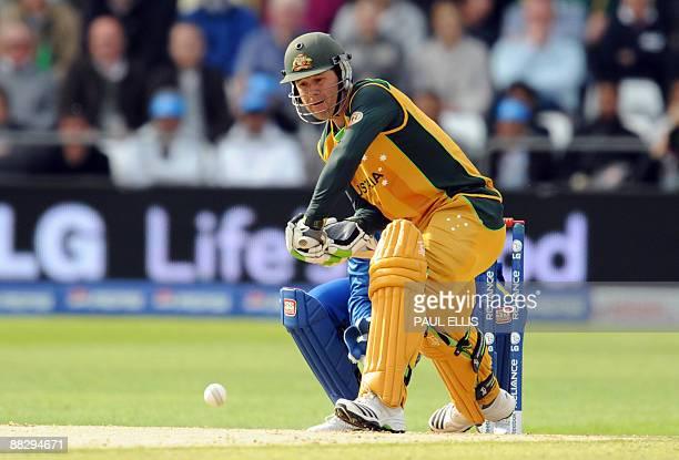 Australia's Ricky Ponting faces a ball against Sri Lanka during the ICC World Twenty 20 cricket match at Trent Bridge Nottingham England on June 8...