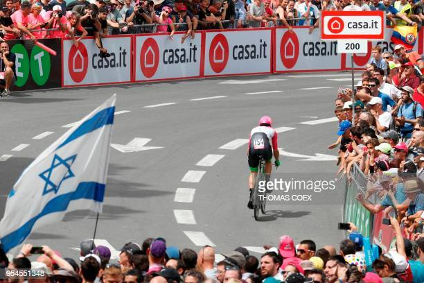 Australia's rider of team EF Education First Drapac Mitchell Docker rides during the 1st stage of the 101st Giro d'Italia Tour of Italy on May 4 a 97...