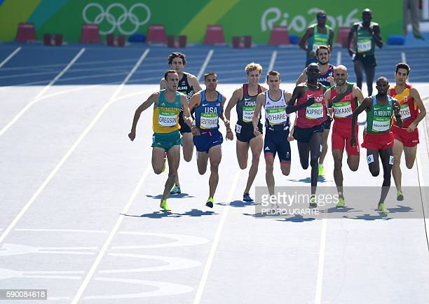 Australia's Ryan Gregson USA's Matt Centrowitz Canada's Charles PhilibertThiboutot Britain's Chris O'Hare Kenya's Asbel Kiprop Morocco's Fouad Elkaam...
