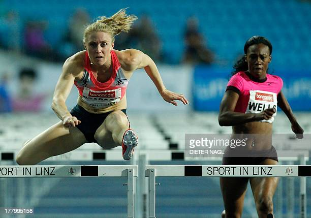 Australia's Sally Pearson competes to win in the 100 Meter hurdles event at the 'Gugl' Track and field meeting on August 26 2013 in Linz Austria AFP...