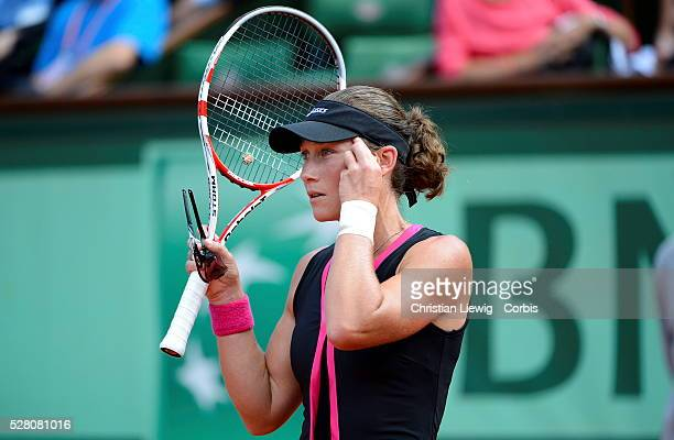 Australia's Samantha Stosur is defeated by Italia's Sara Erani6136 in their Women semifinal of the French Tennis Open 2012 at Roland Garros arena in...