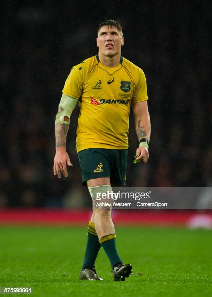 Australia's Sean McMahon during the Old Mutual Wealth Series Autumn International match between England and Australia at Twickenham Stadium on...