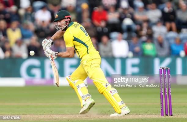 Australia's Shaun Marsh during the Royal London OneDay Series 2nd ODI between England and Australia at Sophia Gardens on June 16 2018 in Cardiff Wales