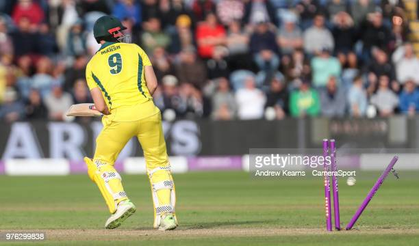 Australia's Shaun Marsh is bowled by England's Liam Plunkett for 131 runs during the Royal London OneDay Series 2nd ODI between England and Australia...
