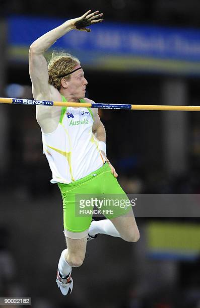 Australia's Steven Hooker competes during the men's pole vault final of the 2009 IAAF Athletics World Championships on August 22, 2009 in Berlin. AFP...