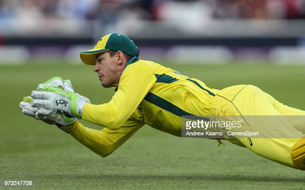 Australia's Tim Paine fails to hold on to a catching opportunity given by England's Jos Buttler during the Royal London 1st ODI match between England...