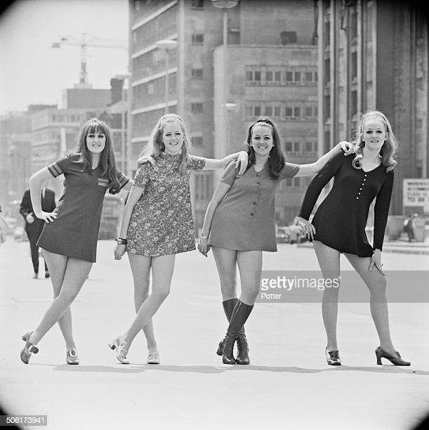 Australia's top vocal group 'Marcie And The Cookies' in London to promote their new record 'You Are My Kind' London 27th June 1969 The band consists...
