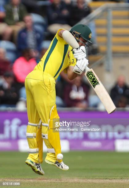 Australia's Travis Head during the Royal London OneDay Series 2nd ODI between England and Australia at Sophia Gardens on June 16 2018 in Cardiff Wales