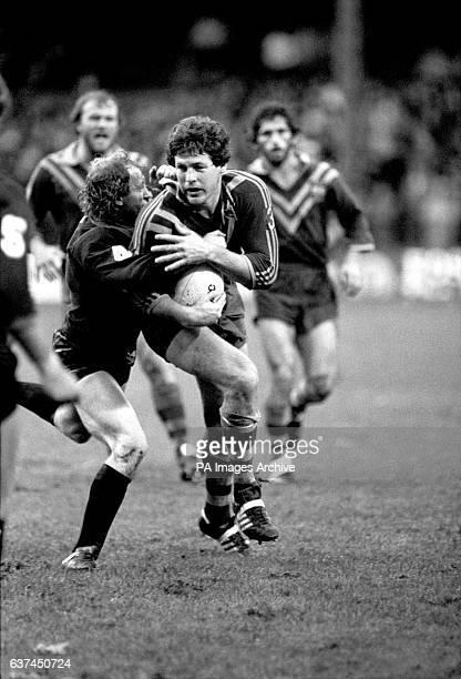Australia's Wally Lewis breaks a tackle