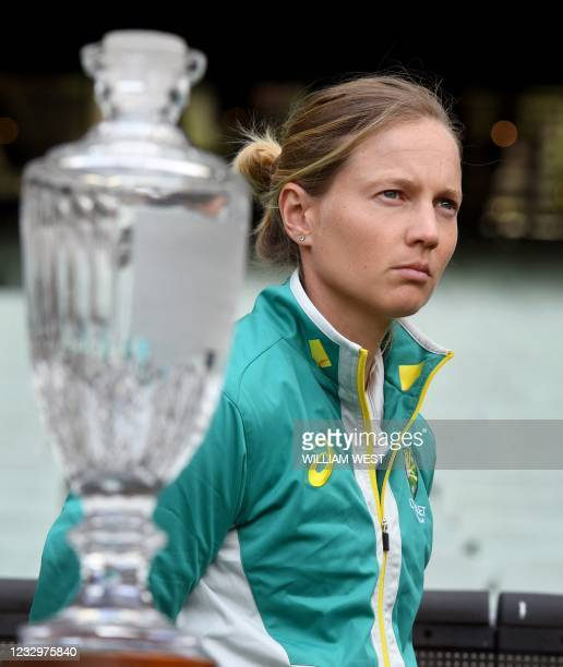 Australia's women's captain Meg Lanning listens during a press conference after an announcement of the upcoming men's and women's Ashes series...