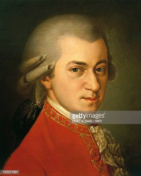 Austria 18th century Portrait of Wolfgang Amadeus Mozart Austrian composer and pianist Detail
