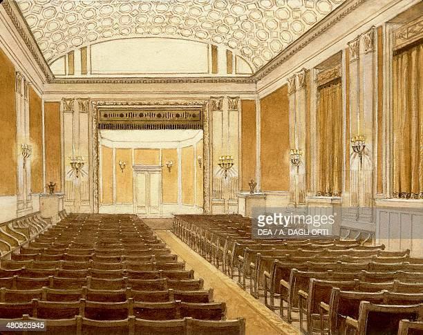 Austria 19th century Examination room at the Vienna Conservatory Watercolor Vienna Historisches Museum Der Stadt Wien